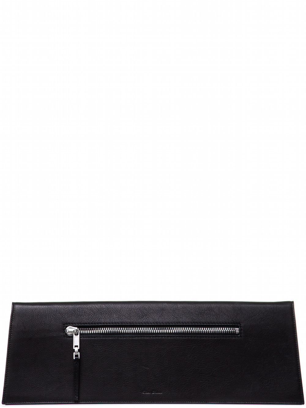RICK OWENS MIDI CLUTCH IN BLACK CALF LEATHER