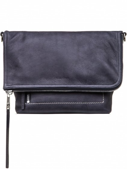 RICK OWENS SMALL MESSENGER BAG IN PURPLE CALF LEATHER