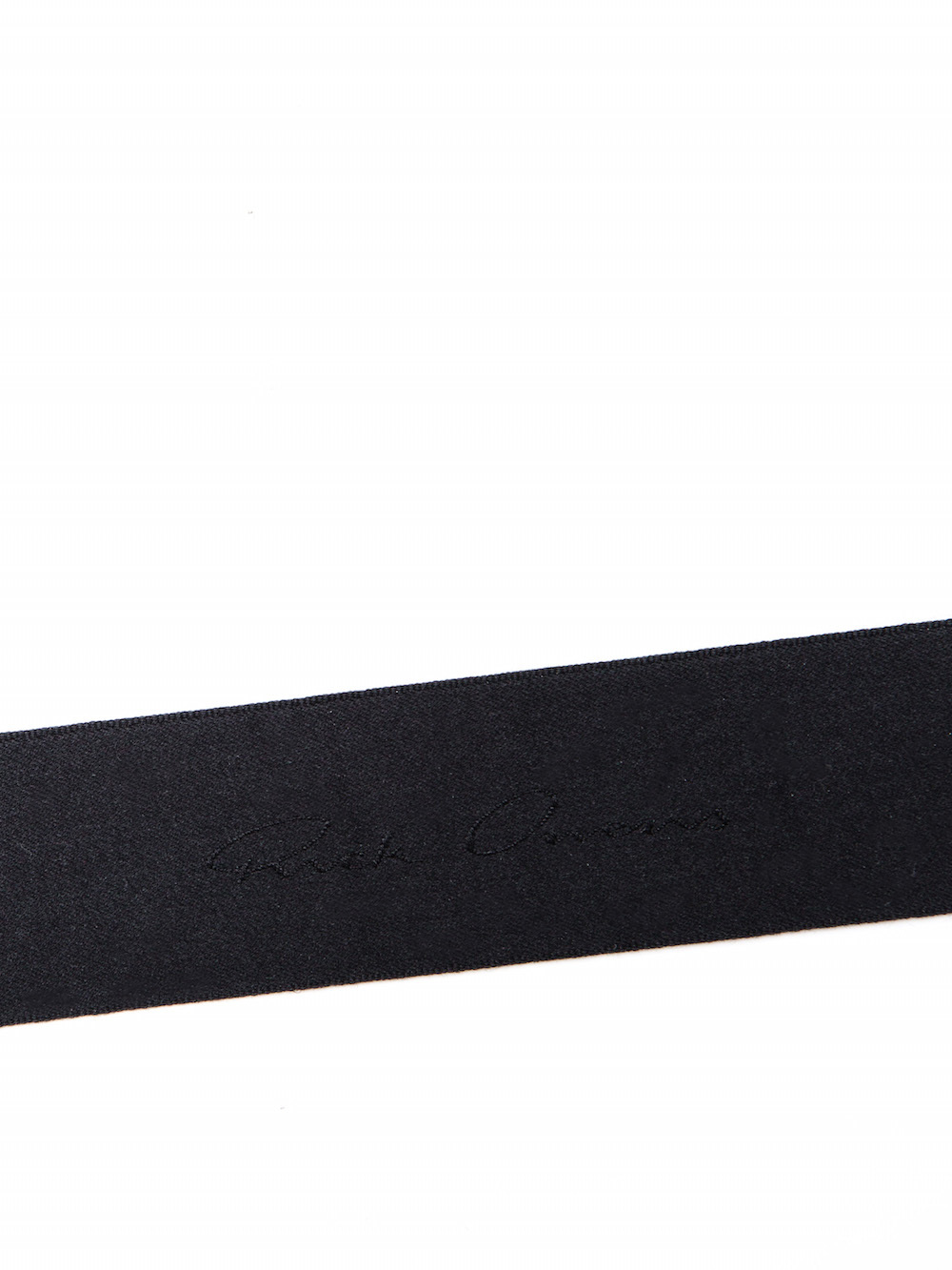 RICK OWENS NECK WALLET IN BLACK COW LEATHER IS RECTANGULAR