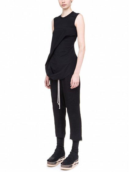 RICK OWENS ELLIPSE TOP IN BLACK