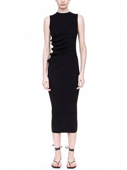 RICK OWENS WHIPPED DRESS IN BLACK
