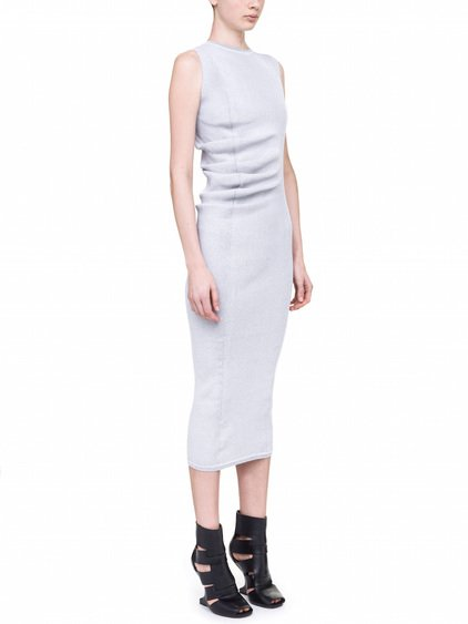 RICK OWENS WHIPPED DRESS IN MILK WHITE