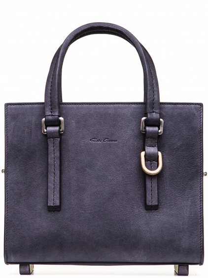 RICK OWENS MICRO EDITH SHOULDER BAG IN PURPLE CALF LEATHER