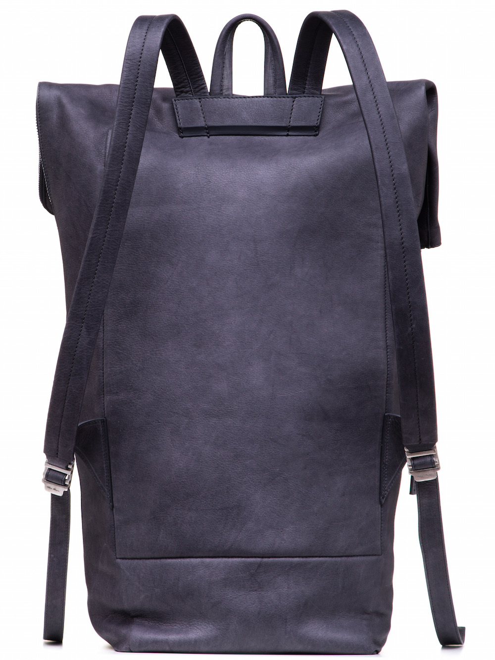 RICK OWENS DUFFLE BACKPACK IN PURPLE CALF LEATHER
