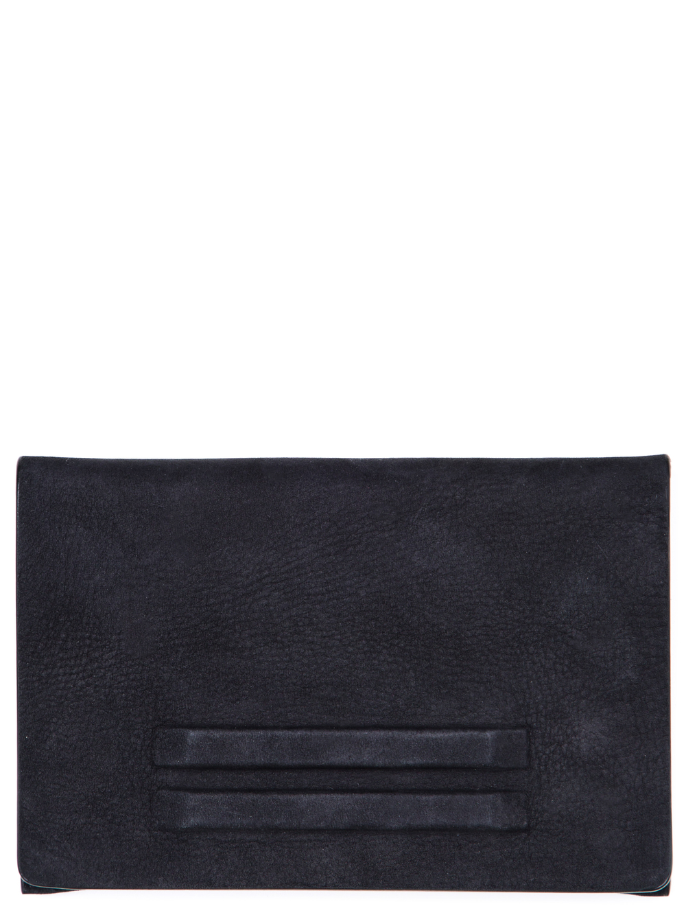 RICK OWENS FLAT WALLET SMALL IN BLACK CALF LEATHER