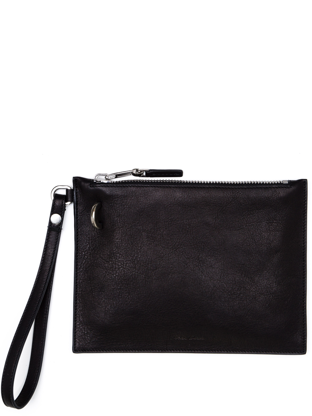 RICK OWENS WRIST POUCH IN BLACK CALF LEATHER