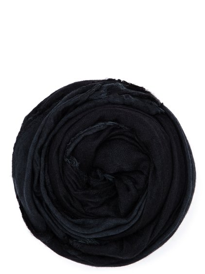 RICK OWENS FOULARD IN BLACK WASHED COTTON