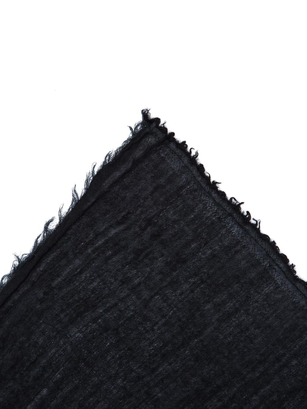 RICK OWENS FOULARD IN BLACK WASHED COTTON