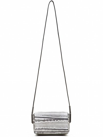 RICK OWENS MICRO ADRI BAG IN NATURAL WHITE SNAKE SKIN