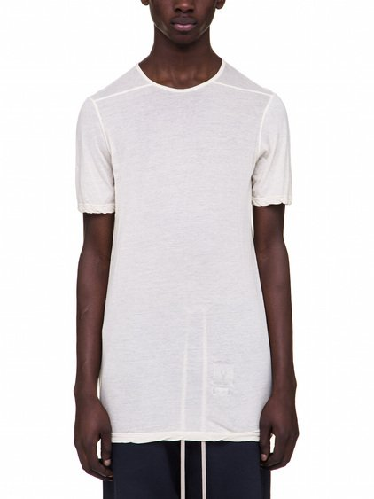 DRKSHDW LEVEL TEE IN WHITE LIGHT-WEIGHT COTTON