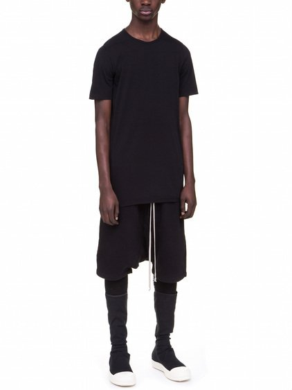 DRKSHDW LEVEL TEE IN BLACK COTTON JERSEY