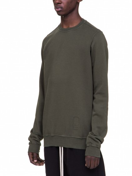 DRKSHDW CREWNECK SWEAT IN FOREST GREEN HEAVY COTTON