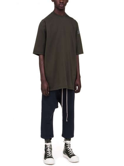 DRKSHDW JUMBO TEE IN FOREST GREEN MEDIUM-WEIGHT COTTON JERSEY