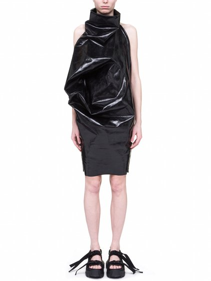 RICK OWENS OFF-THE-RUNWAY ELIPSE TUNIC IN BLACK