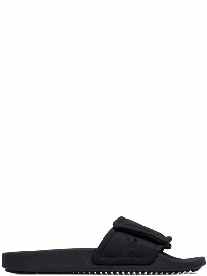 DRKSHDW VELCRO SLIDES IN BLACK MICRO FAILLE