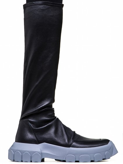 RICK OWENS OFF-THE-RUNWAY STRETCH HIKING SOCK SNEAKERS