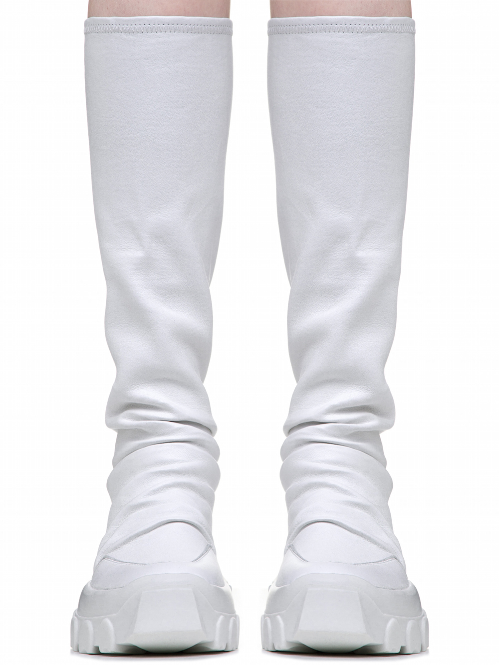 White Stretch Hiking Sock Sneakers Rick Owens