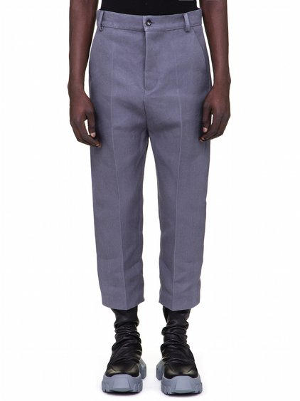 "RICK OWENS OFF-THE-RUNWAY BOLANS IN ""BLU"" LIGHT GREY"