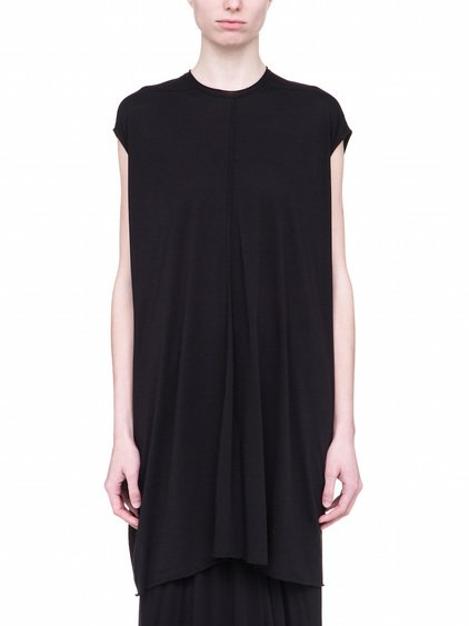 RICK OWENS LILIES TUNIC IN BLACK COTTON