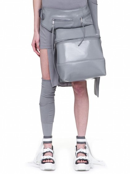 RICK OWENS OFF-THE-RUNWAY CARGO CHAP IN STONE GREY