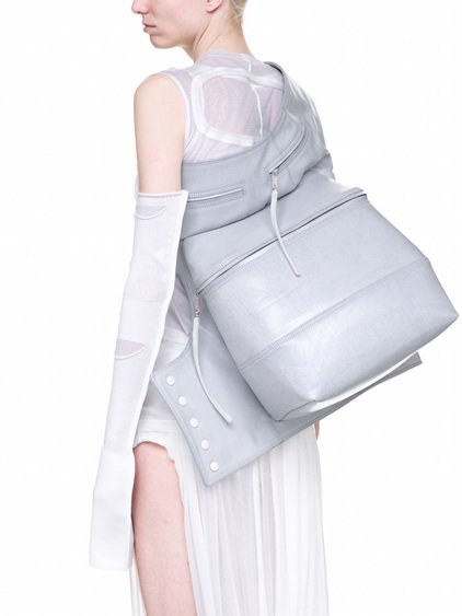 RICK OWENS  OFF-THE-RUNWAY CARGO CHAP IN CHALK WHITE