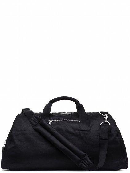 DRKSHDW WEEKENDER BAG IN BLACK DOUBLE TWIST