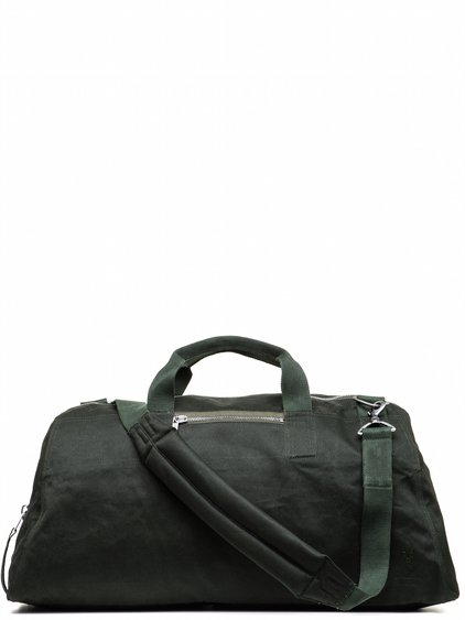 DRKSHDW WEEKENDER BAG IN FOREST GREEN DOUBLE TWIST COVER COTTON