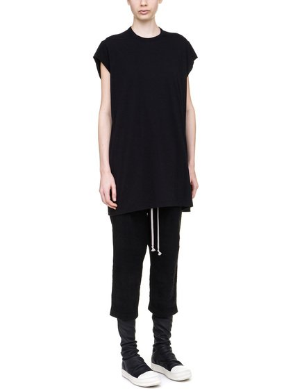 RICK OWENS T-SHIRT IN BLACK MEDIUMWEIGHT COTTON