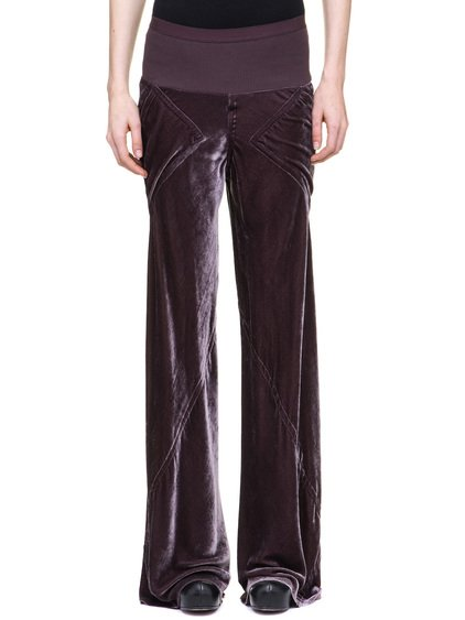RICK OWENS BIAS PANTS IN VELVET