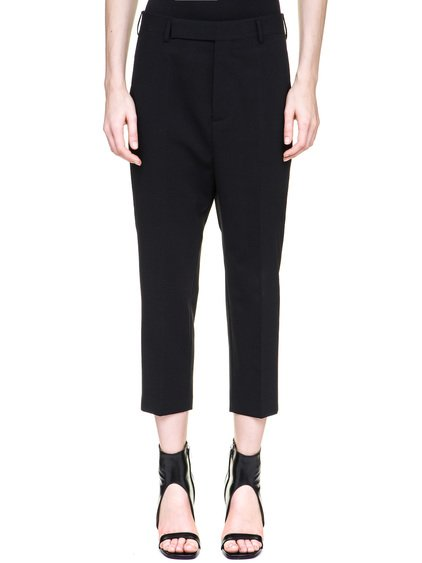 RICK OWENS EASY ASTAIRES TROUSERS IN BLACK