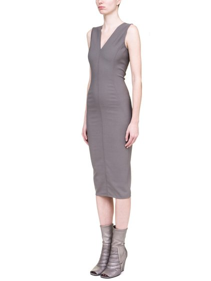 RICK OWENS TANK DRESS IN GREY