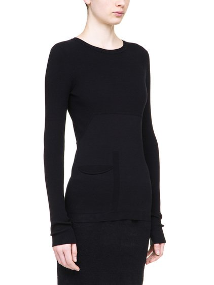 RICK OWENS SCARPA TOP IN BLACK