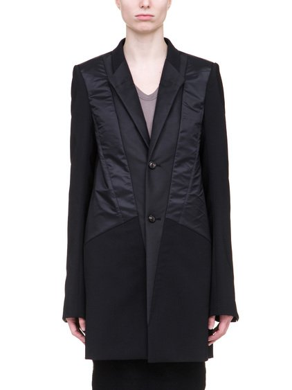 RICK OWENS TUX BLAZER IN BLACK