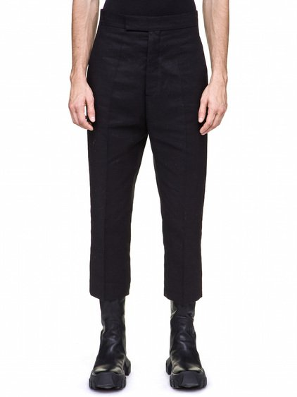 RICK OWENS BOLANS TROUSERS IN BLACK