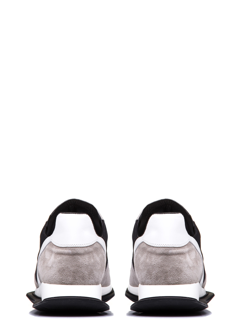 RICK OWENS NEW LACE-UP RUNNERS IN PEARL BEIGE AND BLACK HAVE