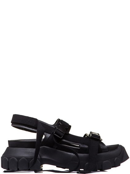 RICK OWENS HIKING SANDALS IN BLACK