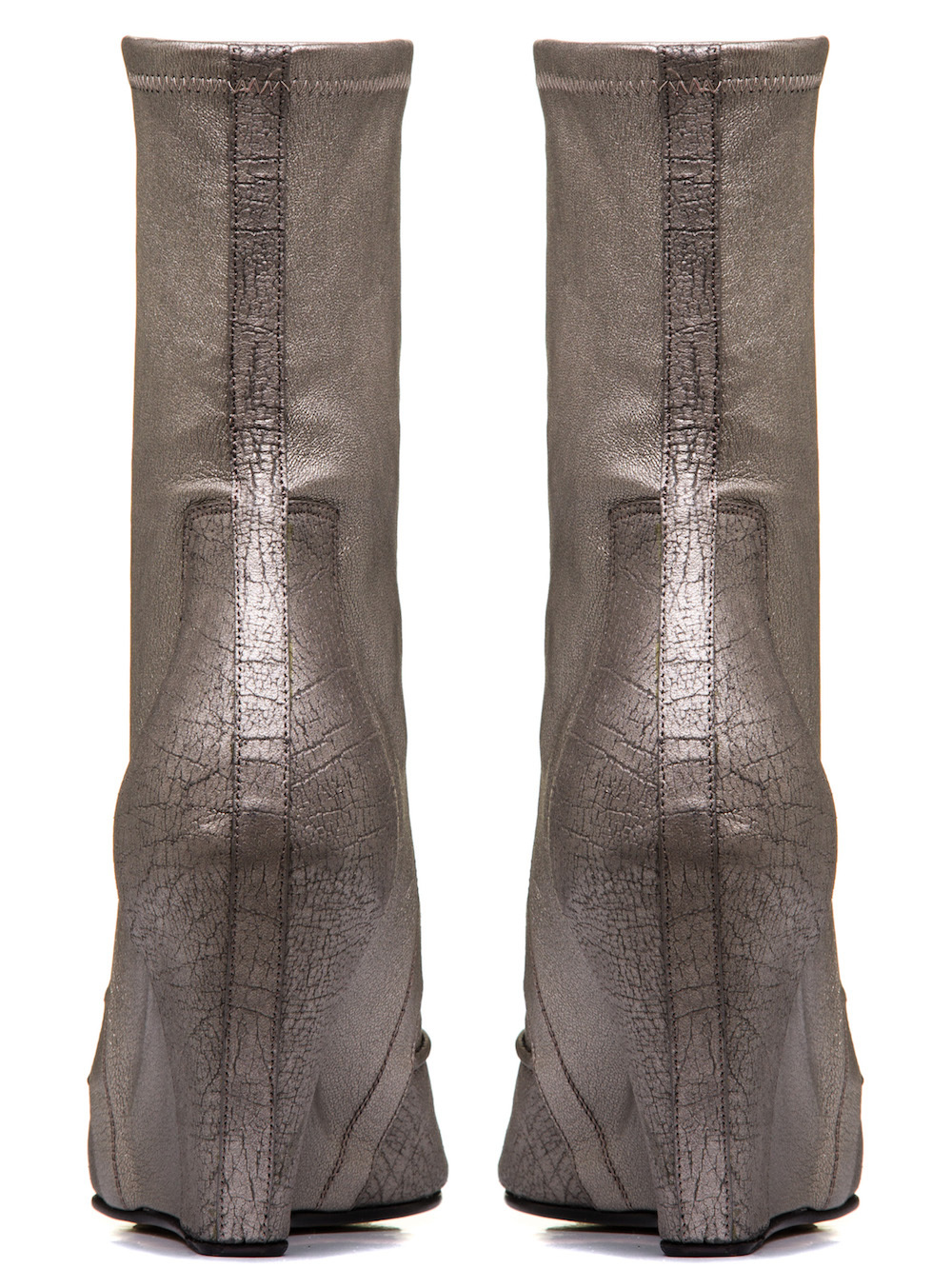 RICK OWENS RUHLMANN SOCK WEDGES IN SILVER