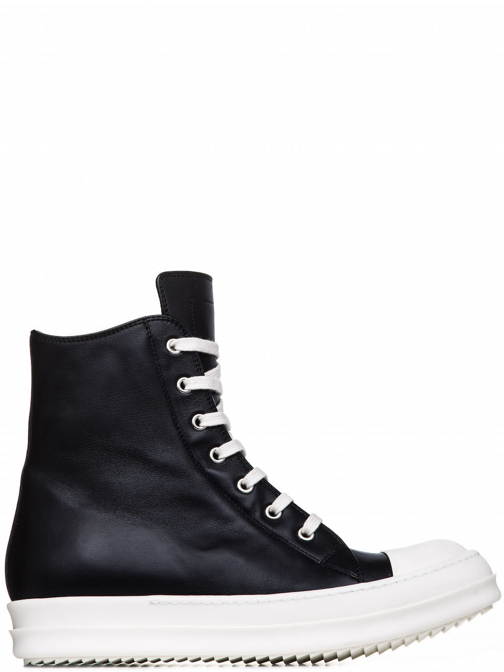 RICK OWENS SNEAKERS IN BLACK CALF LEATHER
