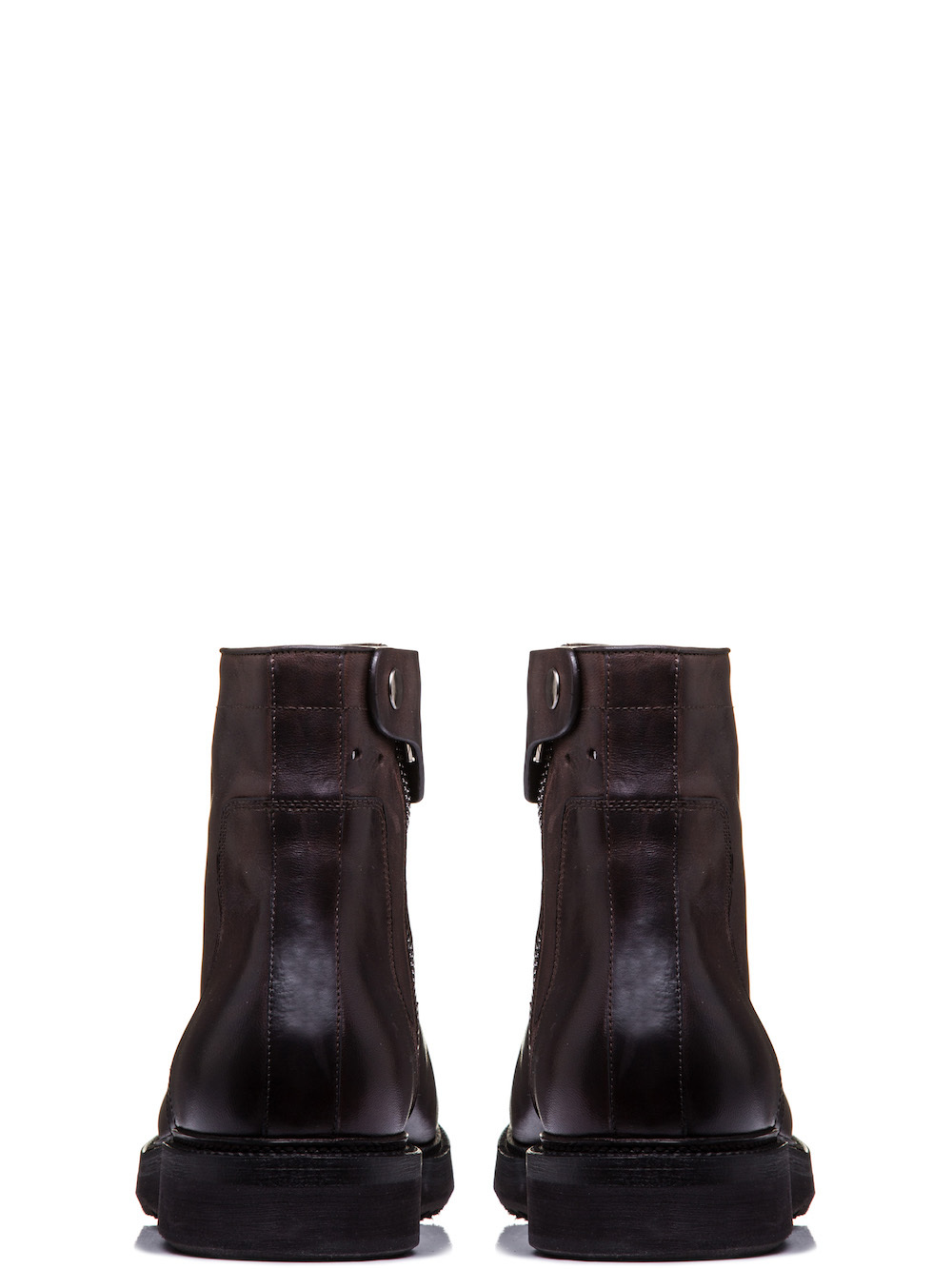 RICK OWENS CREEPER SLIM BOOTS WITH CREEPER SOLE