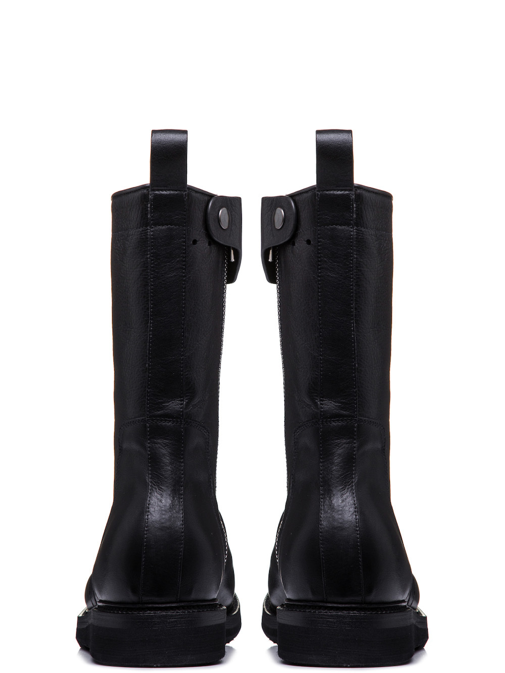 RICK OWENS CREEPER BOOTS WITH CREEPER SOLE IN BLACK CALF LEATHER