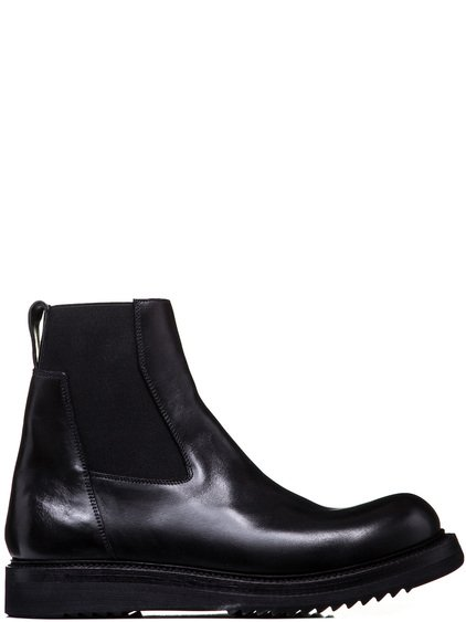RICK OWENS CREEPER ELASTIC BOOTS WITH CREEPER SOLE IN BLACK