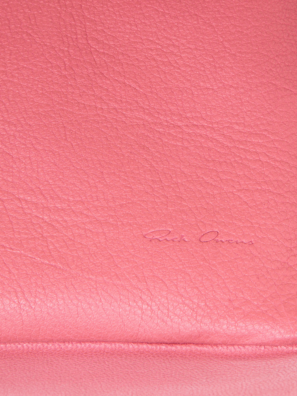 RICK OWENS BIG TOILETRY BEAUTY CASE IN PINK GOAT LEATHER