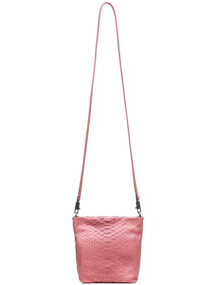 RICK OWENS SMALL ADRI BAG IN PINK PYTHON LEATHER