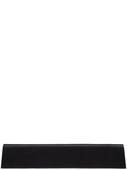 RICK OWENS MAXI CLUTCH IN BLACK GOAT LEATHER IS RECTANGULAR