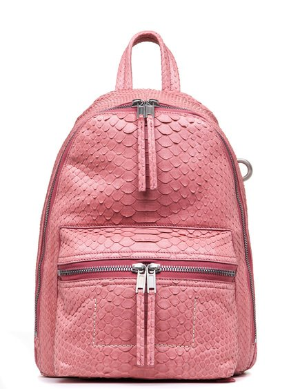 RICK OWENS FW18 SISYPHUS MINI BACKPACK  IN PINK PYTHON