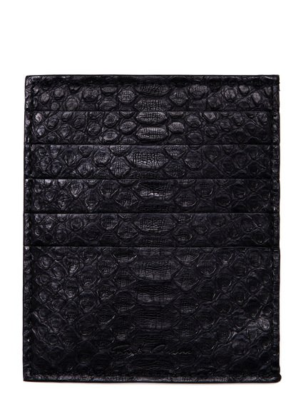 RICK OWENS CREDIT CARD HOLDER IN BLACK PYTHON