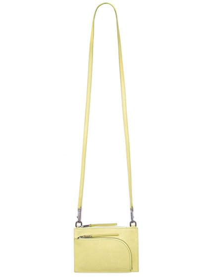 RICK OWENS CLUB POUCH IN LIME LIGHT YELLOW
