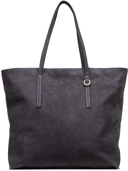 RICK OWENS BIG SHOPPER BAG IN DARKDUST GREY CALF LEATHER