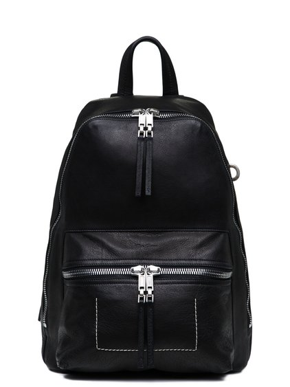 RICK OWENS SMALL BACKPACK IN BLACK CALF LEATHER