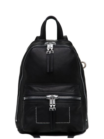 RICK OWENS MINI BACKPACK IN BLACK GRAINY CALF LEATHER